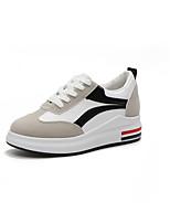 economico -Per donna Scarpe Di corda / PU (Poliuretano) Estate Comoda Sneakers Piatto Punta tonda Nero / Rosso