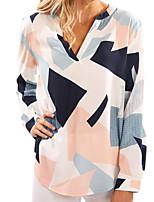 cheap -Women's Work Shirt - Striped / Color Block V Neck