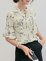 cheap -Women's Basic Blouse - Geometric