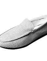 cheap -Men's Shoes Canvas Summer Moccasin Loafers & Slip-Ons Black / Beige / Gray