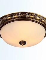 abordables -QIHengZhaoMing 2 lumières Montage du flux Lumière d'ambiance 110-120V / 220-240V, Blanc Crème / Blanc, Ampoule incluse