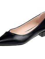 abordables -Femme Chaussures Polyuréthane Eté Escarpin Basique Chaussures à Talons Talon Bottier Bout pointu Noir / Beige / Kaki / Soirée & Evénement
