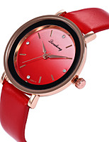 cheap -Women's Wrist Watch Casual Watch / Lovely PU Band Casual / Fashion Black / White / Red