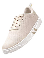 cheap -Men's Canvas Summer Comfort Sneakers Beige / Black / Gold / Black / White