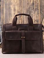 cheap -Men's Bags Cowhide Shoulder Bag Buttons Black / Coffee