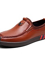abordables -Homme Chaussures Cuir Printemps Confort Mocassins et Chaussons+D6148 Noir / Marron