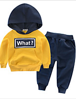 cheap -Kids Boys' Solid Colored Long Sleeve Clothing Set