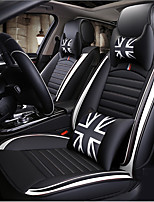 cheap -ODEER Car Seat Cushions Seat Covers Black / White Artificial Leather Common for universal All years All Models