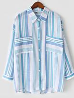 cheap -Women's Basic Shirt - Striped Print