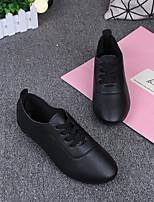 Недорогие -Жен. Обувь Полиуретан Весна Удобная обувь Кеды На плоской подошве Белый / Черный