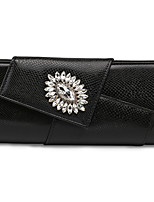 cheap -Women's Bags PU(Polyurethane) Evening Bag Flower White / Black / Silver