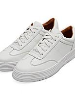 Недорогие -Жен. Обувь Полиуретан Весна Удобная обувь Кеды На плоской подошве Белый / Красный