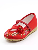 cheap -Girls' Shoes Silk Spring Comfort Flats Gore for Kids Peach / Red / Pink