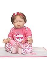 Недорогие -NPKCOLLECTION Куклы реборн Девочки 24 дюймовый Силикон Детские Девочки Подарок