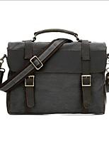 cheap -Men's Bags Canvas Shoulder Bag Zipper Dark Gray / Coffee / Khaki