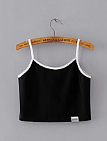 cheap -Women's Tank Top - Solid Colored Strap