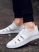 economico -Per uomo PU (Poliuretano) Estate Comoda Sneakers Bianco / Nero