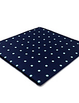 cheap -Men's Vintage / Party / Work Pocket Squares - Polka Dot / Color Block / Jacquard Blue & White