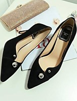 cheap -Women's Shoes Nappa Leather Summer Comfort Heels Stiletto Heel Pointed Toe Gold / Black / Silver
