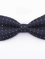 cheap -Men's Basic Cotton / Polyester Bow Tie - Solid Colored / Houndstooth Blue & White / All Seasons