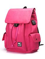 cheap -Unisex Bags Nylon Backpack Zipper Black / Fuchsia / Light Grey