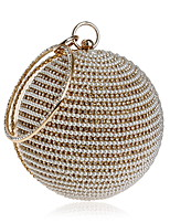 cheap -Women's Bags Alloy Evening Bag Crystals / Pearls Gold / Black / Silver