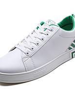 Недорогие -Муж. Полиуретан Лето Удобная обувь Кеды Черно-белый / Белое / серебро / Wit En Groen