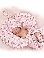 Недорогие -NPKCOLLECTION Куклы реборн Мальчики / Девочки 12 дюймовый Полный силикон для тела / Силикон - Искусственная имплантация Коричневые глаза Детские Универсальные Подарок