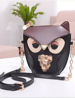 cheap -Women's Bags PU(Polyurethane) Shoulder Bag Sequin Black / Orange