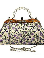 cheap -Women's Bags Polyester Evening Bag Beading / Buttons Blushing Pink / Purple / Brown