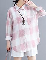 baratos -Mulheres Blusa Moda de Rua Geométrica