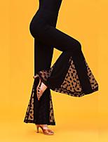 cheap -Ballroom Dance Bottoms Women's Performance Ice Silk Ruching / Split Joint Natural Pants