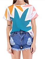 cheap -Women's Basic / Street chic T-shirt - Geometric Print