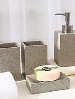 abordables -Set d'Accessoires de Salle de Bain Design nouveau / Multifonction Moderne Plastique 4pcs - Salle de  Bain Simple