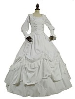 cheap -Gothic / Victorian Costume Women's Outfits / Party Costume White (iPhone4S) Vintage Cosplay 50% Cotton / 50% Polyester Long Sleeve Juliet Sleeve
