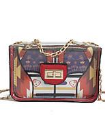cheap -Women's Bags PU(Polyurethane) Shoulder Bag Buttons Black / Red / Brown