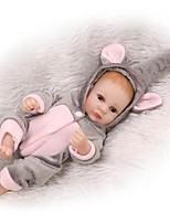Недорогие -NPKCOLLECTION Куклы реборн Мальчики 12 дюймовый Полный силикон для тела / Винил - Искусственная имплантация Коричневые глаза Детские Мальчики Подарок