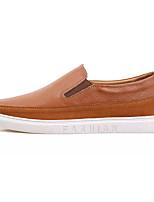 abordables -Homme Chaussures Cuir Nappa / Cuir Automne Confort Mocassins et Chaussons+D6148 Noir / Marron