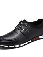 Недорогие -Муж. обувь Полиуретан Осень Удобная обувь Туфли на шнуровке Черный / Коричневый