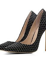 abordables -Mujer Zapatos Vaquero Primavera Confort Tacones Tacón Stiletto Puntera abierta Negro / Plateado / Azul