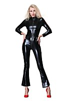 cheap -Cosplay Costume Zentai Cosplay Costumes Black Solid Color Zentai / Catsuit Spandex / Lycra Spandex All Christmas / Halloween / Carnival