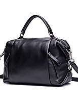 cheap -Women's Bags Cowhide Tote / Shoulder Bag Zipper Black