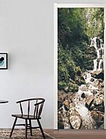 abordables -Calcomanías Decorativas de Pared / Pegatinas de puerta - Holiday pegatinas de pared Paisaje / 3D Sala de estar / Dormitorio