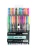 cheap -Gel Pen Pen Pen, Plastics Multi-Color Ink Colors For School Supplies Office Supplies Pack of 24 pcs