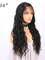 cheap -Remy Human Hair Lace Front Wig Brazilian Hair Wavy Wig 130% With Baby Hair / Natural Hairline / African American Wig Natural Women's Long Human Hair Lace Wig