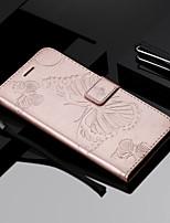 Недорогие -Кейс для Назначение Apple iPhone X / iPhone 8 / iPhone XS Кошелек / Бумажник для карт / Флип Чехол Бабочка Твердый Кожа PU для iPhone XS / iPhone XR / iPhone XS Max