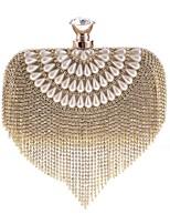 cheap -Women's Bags PU(Polyurethane) Evening Bag Crystals / Tassel Gold / Silver