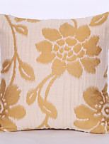 cheap -1 pcs Polyester Pillow Cover, Jacquard / Flower / Floral / Floral Print Modern / Contemporary / Pastoral