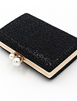 Недорогие -Жен. Мешки синтетика Вечерняя сумочка Пайетки Черный