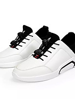 cheap -Men's PU(Polyurethane) Fall Comfort Sneakers Color Block White / Black / Black / White